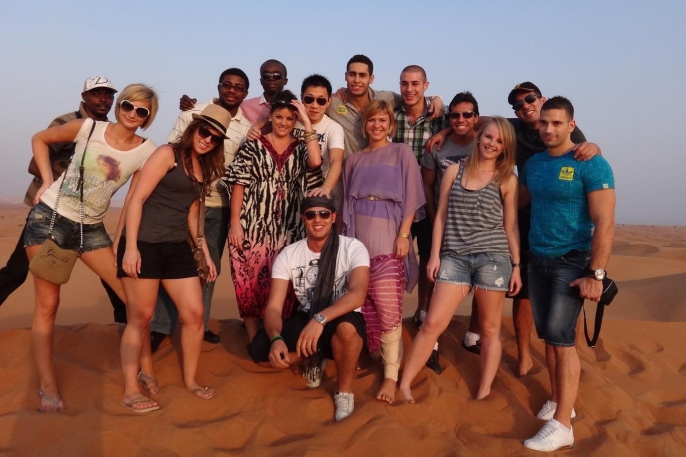 迪拜沙漠冲沙合影Desert Safari
