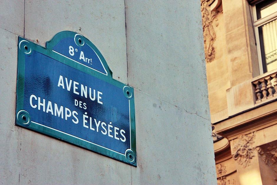 香榭丽舍路牌_Champs_elysees_Sign